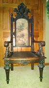 Monumental Antique German Throne Chair/came From Berlin, Germany