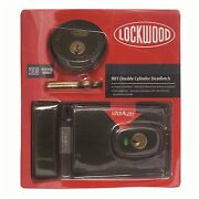 Lockwood Double Cylinder Deadlatch Automatic 001, Brown Plated - Made In Aust