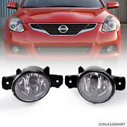 Pair Fog Lights Lamps W/ H11 Bulbs Fit For Nissan Altima Maxima Rogue Sentra