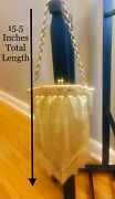 Vintage Whiting And Davis Co. Gold Metallic Mesh Evening Clutch+chain Link Handle