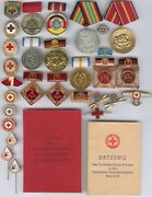 Old East German 30 Items From Red Cross+satzung/sed Statut 1954 Rare