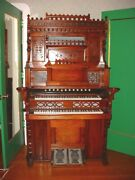 Antique Chesterton Organ Digitally Converted W/2 Key Beds 480 Different Sounds
