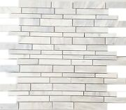 Calacatta Polished White Marble Atrium Mosaic Wall And Floor Tiles Free Lenght