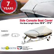 Heavy Duty Solution Dyed Polyester V-hull Side Console Boat Cover 16and0394-17and0394