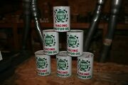 Nos 6 Pack 1960and039s Quaker State Racing Oil Cans Sae 40 Absolutely Mint Condition