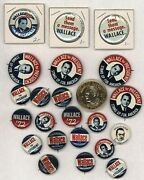 1972 George Wallace For President 1 - 1.5 Pinback Button Set