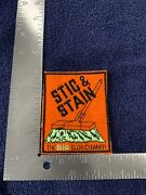 Original Vintage Stic And Stain Wacky Packages Style Sew On Cloth Patch