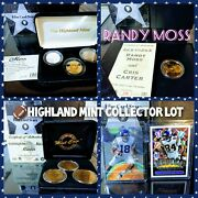 Randy Moss Roy Highland Mint Gold Silver 24k Gold Coin Proof Set Collector Lot