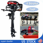 4stroke 7hp Outboard Motor Engine Inflatable Fishing Boat Air Cooled System Usa