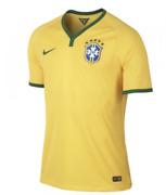 Nike Menand039s Brasil Home Authentic Jersey World Cup 2014 575276-703