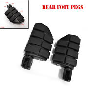 2x Motorcycle L+r Rider Floorboards Foot Peg Pad Board Pedal 8mm Hole Universal