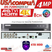 Hikvision 8ch Dvr 8 Channel Ds-7208hqhi-k1 4mp8ch Hd-tvidvr + 4ch Ip H.265+