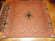 Antique Paisley Shawl Tapestry Wool