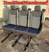 Ford Transit Van Quick Release Universal Fit 3 Position Bench Seat Cargo Camper