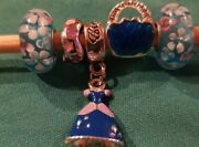 5pc Cinderella Murano Glass Beads Fits European Charms Lot Dn9533