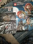 Lego Harry Potter Drawstring Bag Black With Poster, Bookmark, Sticker And Keychain