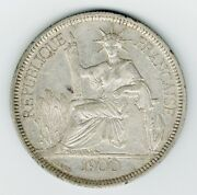 1900a French Indo-china Piastre De Commerce Coin Km5a.1 Silver Francaise