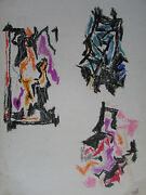 Umberto Romano Abstract Painting Modernist Pastel Or Crayon New York