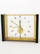 Jaeger Lecoultre Table Clock With 8 Days Baguette Inline Movement + Certificate