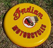 Indian Motorcycles 24 Button Round Sign