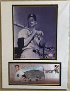 Rare Mlb Ny Yankee Mickey Mantle Photos And Usps Stamp. New And Sealed.