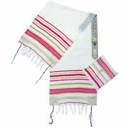 Pink Messianic Tallit New Covenant Prayer Shawl 72 X 22 From The Holy Land