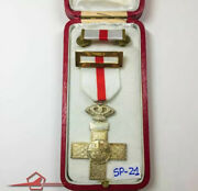 Spain Order Cross Of Military Merit 4th. Cl. White Badge For Troopers Circa 70and039s