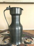 John Somers Brazil Stamped Hinged Pewter Flagon / Ewer Pitcher Jug Container