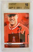 2019 Topps Now Mike Trout Signs Largest Contract Ever Bgs 10 Pristine .5 From Bl