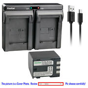 Kastar Battery Dual Charger For Canon Bp-2l24 2l12 And Canon Optura 40 Optura 30