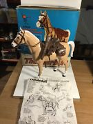 Marx Johnny West Thunderbolt Horse Within It Original Box Excellent Condition