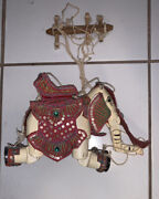 Vintage Wooden Marionette Elephant Puppet From Thailand-hand Painted