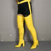 Suspender Belt Chaps Dominatrix Thigh Crotch Over The Knee Suede Farbic Boots