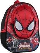35 Marvel Spiderman Backpack With Molded Eva Front Backpack Red 16 Inch