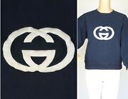 Auth 70s 80s Sweatshirt Rare Vintage Top Navy Blue White Embroidered