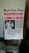 The King Is Dead Elvis Poster Good Condition