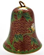 Vintage Chinese Cloisonne Bell Ornament. Hand Painted With Enamel On Copper