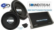 Soundstream Twins 12 Sub Woofer Amplifier Car Audio Package Extreme Deal