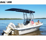 Dolphin T Top Extension Kit Boat Stern Shade Black Canopy - 60 Wide X 47 Long