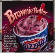 Dairy Queen Promotional Poster For Backlit Menu Sign Brownie Batter Blizzard Dq2