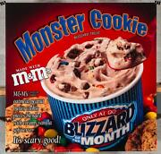 Dairy Queen Promotional Poster For Backlit Menu Sign Mandm Monster Cookie Dq2