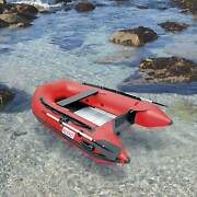 Aleko Inflatable Boat With Aluminum Floor 3 Prs Raft Sport Motor 8ft 4inch Red