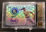 Royce Lewis 2016 Leaf Perfect Game National Showcase Etched Halo /3 Auto Bgs 9.5