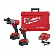 Milwaukee Hammer Drill And Impact Driver Cordless 18-volt Lithium-ion Brushless