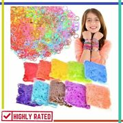 Loom Band Rubber Bands Refill Kit Loomy 26 Colors With 500 Clips 6 Hook Inscraft