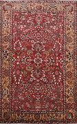 Semi Antique Floral Hand-knotted Area Rug Wool Home Decor Oriental 6x10 Carpet