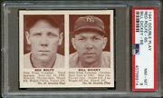 1941 Double Play 65 Red Rolfe And Bill Dickey Yankees Psa 8 40798914