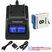 Kastar Battery Lcd Fast Charger For Gopro Ahdbt-801 Gopro8 Gopro Hero 8 Hd Black