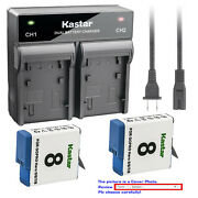 Kastar Battery Ac Rapid Charger For Gopro Ahdbt-801 Gopro8 Gopro Hero 8 Hd Black