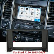 Carbon Grain Gps Navigation Display Dashboard Trim Cover For Ford F150 2015-2019